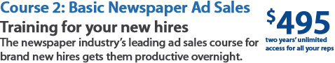 newspaper ad sales training for new hires