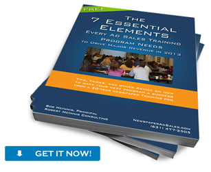 "Download Our FREE E-book: ""The 7 Essential Elements Of Successful Ad Sales Training Initiatives"